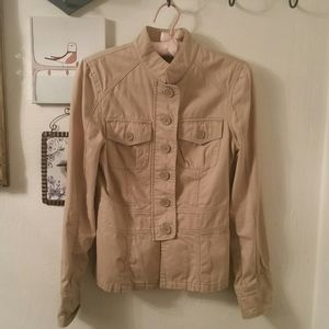 Mexx button down military style jacket, S/M